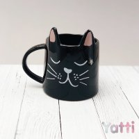 "Кружка ""Cute cat"", black (350 ml)"